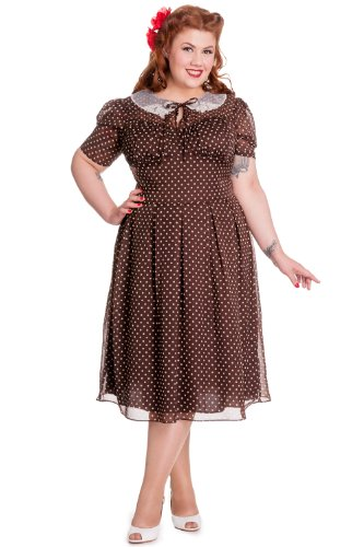 Vintage Brown Polka Dot - 6