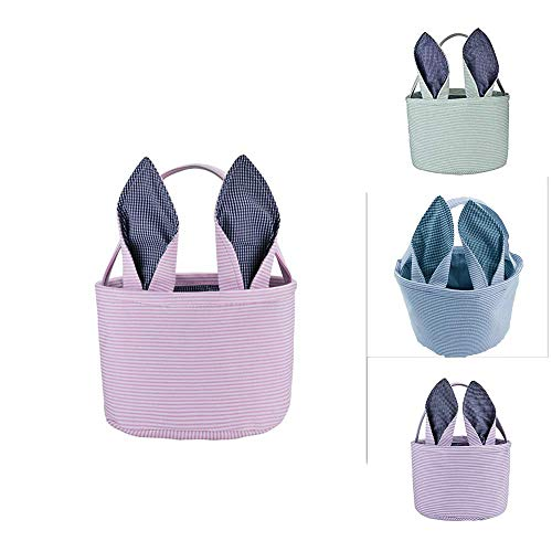 (H.Xin Easter Rabbit ears basket/Eggs Basket Great for Easter Egg Hunts and Easter Eggs)