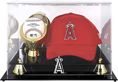 Mounted Memories Los Angeles Angels of Anaheim Golden Classic Acrylic Cap and Ball Logo Case