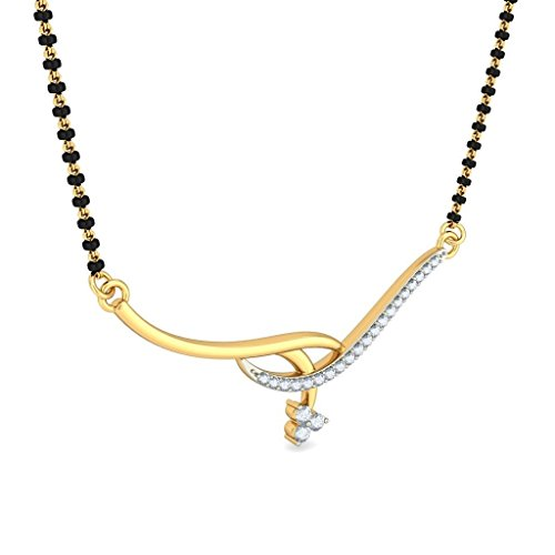 14 K Or jaune 0.12 CT TW White-diamond (IJ | SI) Mangalsutra