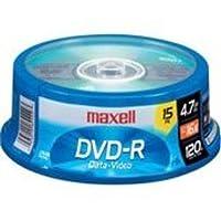 Maxell 638006 DVD-R 4.7 Gb Husillo con tiempo de grabación de 2 horas y tecnología de capa de grabación superior con vida de archivo de 100 años