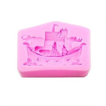 FMY molde de silicona/de elefante Rhino barco Fondant molde/moldes: Amazon.es: Hogar