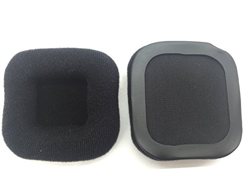 Replacement velour velvet square cushion earpads ear pads pillow For Skullcandy ASTRO A30 Gaming headphone ()