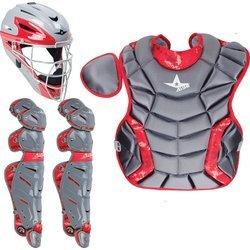 All Star System Seven Youth Camo Pro Catcher's Kit (Camo Hockey Mask)