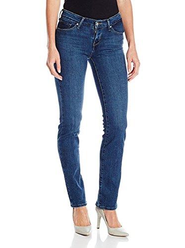 Levi's Women's 714 Straight Jean (29 x 34L, Springtide Indigo (73% Cotton, 19% Polyester, 7% Modal, 1% Elastane))