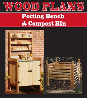 POTTING BENCH & COMPOST BIN WOODWORKING PAPER PLAN PW10013 Potting Bench Plan