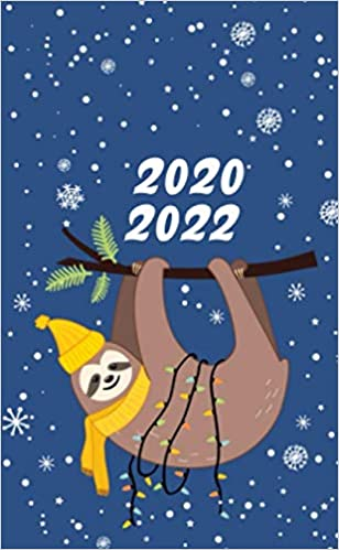 Christmas Trends 2020-2022 2020 2022: Funny Winter Sloth 3 Year Monthly Pocket Planner