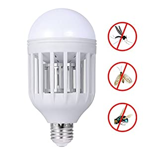 iHomy Electronic Insect Killer, Bug Zapper Light Bulb, Fly Killer, Mosquito Killer, Built in Insect Trap, Fits in 110v Light Bulb Socket, Perfect for Indoor Home Garden Patio Backyard
