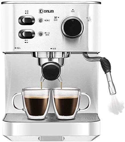Italiana semiautomática 20bar Máquina de café constante temperatura de extracción independiente de temperatura dual Control Comercial Cuerno embudo Vapor Sistema de espuma apropiada for uso doméstico: Amazon.es: Hogar