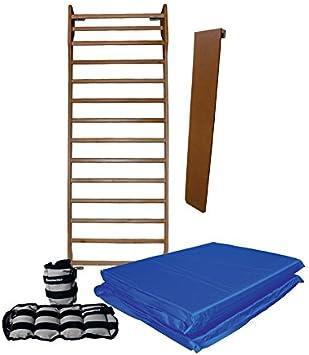 Kit completo de entrenamiento para biombo de completo Biombo reducida 230 cm envía materassina plegable apoyo salvaschiena y par Par de tobilleras 1 kg-Fisioterapia: Amazon.es: Deportes y aire libre