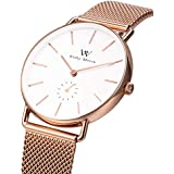 CLUSE LA TÉTRAGONE Rose Gold Mesh White CL60003...