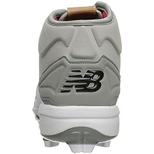New Balance Men's PM3000v3 Molded Baseball Shoe, Grey/White, 10 2E US