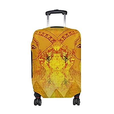 cf830fe6e38f DEYYA Egyptian Queen Spandex Travel Luggage Cover Baggage Suitcase ...