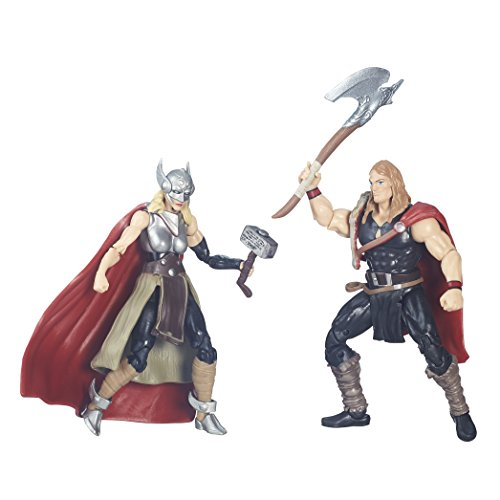 Marvel Legends Series Defenders of Asgard Marvel's Odinson and Thor (Female) Action Figures 3.75 Inches (Most Powerful Female Superhero)
