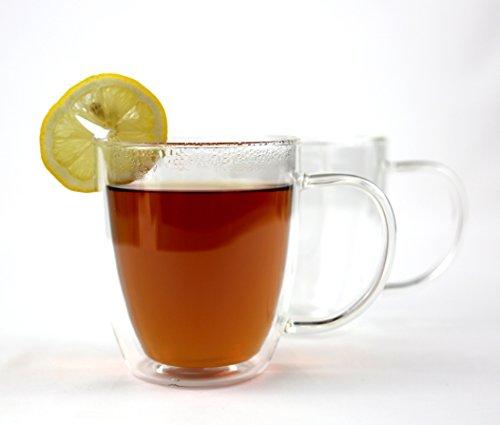 Tea Cup by VizCása - Tea Mug 16 Ounce Double-Wall Insulated