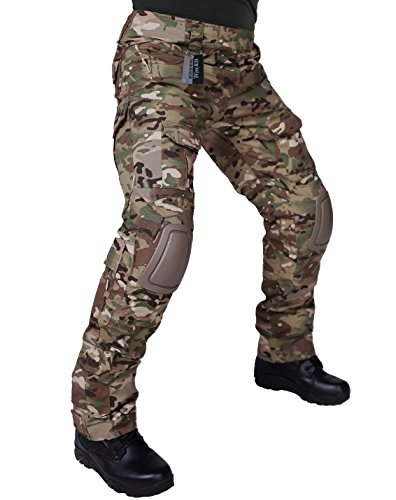 ZAPT Tactical Pants With Knee Pads Airsoft Camping Hiking Hunting BDU Military Uniform Combat Camouflage Trousers