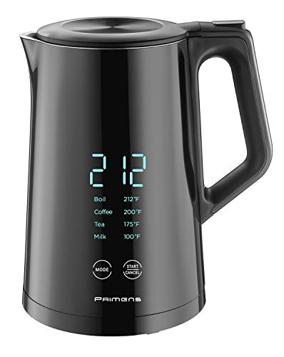 Smart Electric Kettle Temperature Control – LED Display -Keep Warm – Hot Water Tea & Coffee Kettles, Double Wall Cool Touch, Fast Boil 100% Stainless Steel 304, Variable Temperature 2-year Warranty