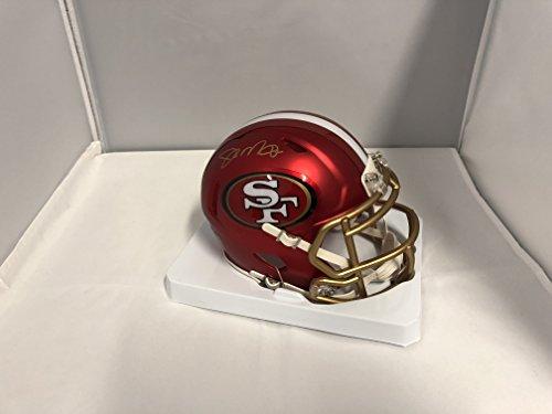Joe Montana Autographed Signed San Francisco 49ers Rare BLAZE SPEED Mini Helmet GTSM COA & Hologram
