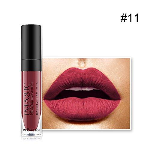 Moisturizing Lip Gloss, IMAGIC Matte lipstick Rare Lip Paint Waterproof Strawberry Long Lasting Nude Lip Balm (Strawberry Lip Pencil)