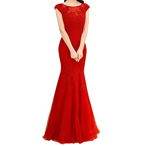 Charmant Dunkel Rot Jugendweihe Kleider Abendkleider Damen Festliche Rosa Ballkleid Kleider Kurzarm Neu Langes Spitze rrF51wq