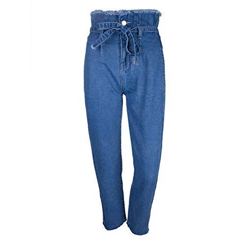 Ceinture Respirant Afflux Mince Jardin Rue De Haute Femmes Bavure Confortable Taille Pantalons Fleurs Vêtements Jeans Pour 31lFTJKc