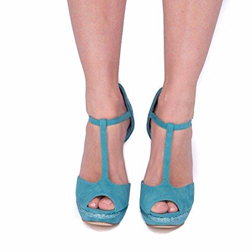 SnobUK - Zapatos con tacón mujer Azul
