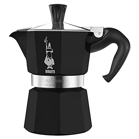 Bialetti Moka Express StoveTop Coffee Maker, 3-Cup, (Black, 3-Cup)