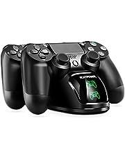 PS4 Chargeur ECHTPower DualShock 4 Station de Charge Support d'alimentation pour Sony Playstation PS 4 / Slim/Pro Contrôleur sans Fil avec Câble de Charge et LED élégants
