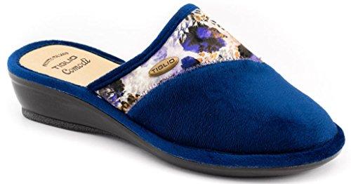 Chaussons D'hiver Pour Femme Linden Slippers Art.1618 Blue
