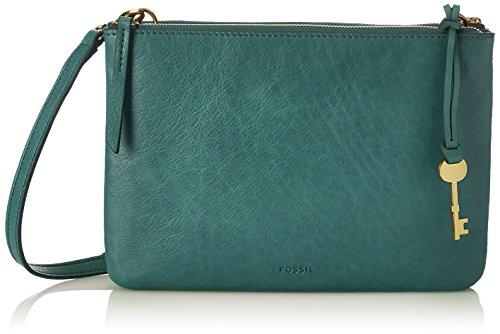 Fossil - Damen Tasche Devon - Crossbody, Borse a tracolla Donna Verde (Alpine Green)