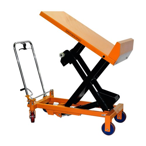 Bolton-Tools-New-Hydraulic-Foot-Operated-Scissor-Lift-Table-Cart-Hand-Truck-With-Max-32-Tilt-Angle-660-LB-of-Capacity-512-Max-Height-Model-TF30F