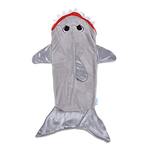 Allstar Innovations - Snuggie Tails -  Shark Blanket for Kids, Gray, As Seen on TV