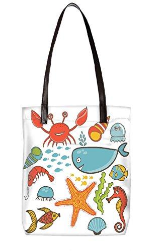 Snoogg Strandtasche, mehrfarbig (mehrfarbig) - LTR-BL-4787-ToteBag