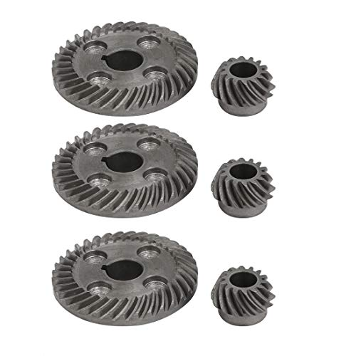- uxcell 90 Degree Shaft Angle Replacement Part Spiral Bevel Helical Gear Set 3pcs