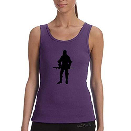 Stickerslug Knight Tank Top Workout Gym Womens (Purple, XL) b20913