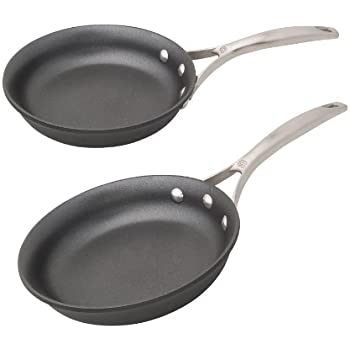 Calphalon Unison Nonstick 8-Inch and 10-Inch Omelette Pan Set,Black