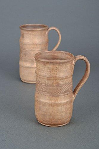 Ceramic Handmade Beer Mug Kilned with Milk Gift Ideas Men