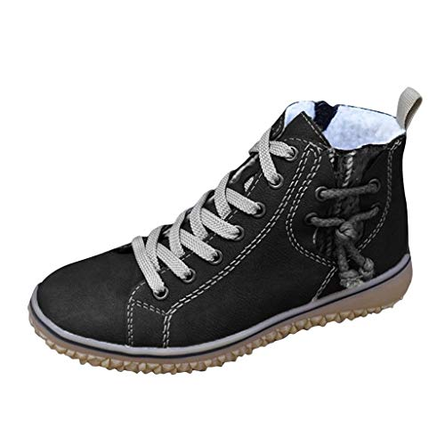 Midress Women's Winter Sport Boots Fur Lined Warm Ankle Boots High-Top Outdoor Sneakers Shoes