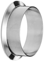 Dixon L14AM7-R300 Stainless Steel 316L Sanitary Fitting, Long Weld Clamp Ferrule, 3\