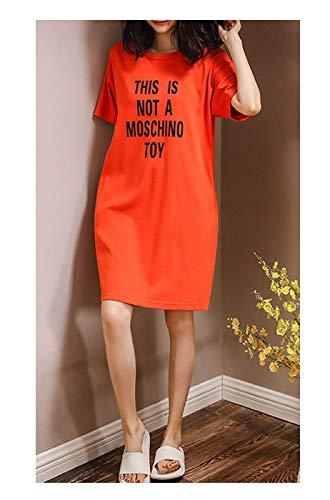 Oudiy Summer Cute Women Sleepwear M-XXL Nightgowns Girls Sleep Lounge Nightgowns Dress Clothing,5207,M -