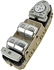 Window Lift Button Power Window Lifter Master Control Switch 2229056800 for Mercedes- Benz for C300 C400 C63 GLC300 C350E for C- Class W205 W253 W222 (Color : Beige)