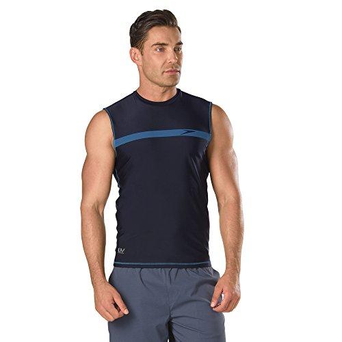 Speedo Mens Startline Sleeveless UV Protection Rashguard Swim Shirt