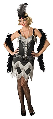 UHC Women's 1920S Charleston Cutie Elite Outfit Fancy Dress Halloween Costume, S (4-6) - Scary 1920 Halloween Costumes