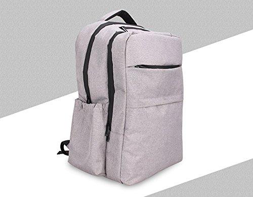 Bolsa de la mamá, de múltiples funciones de gran capacidad hombros bolsa de la madre, bolsa de bebé madre, de gama alta bebé fuera de la mochila ( Color : Negro ) Gris