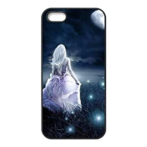 ALICASE Diy Customized Hard Case Night Fairy for iPhone 5,5S [Pattern-1]