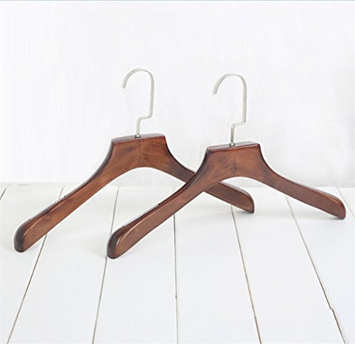 GFYWZ Adult Hangers Solid wood Retro Anti-skid Sturdy Overstriking Ms Clothes Hangers (pack of 10) , 39243cm by Gym00