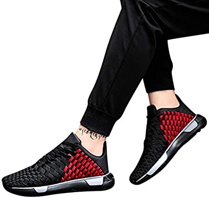 78bf7bee03168 Men Casual Sports Running Shoes Summer Men's Woven Mesh Sneakers ...