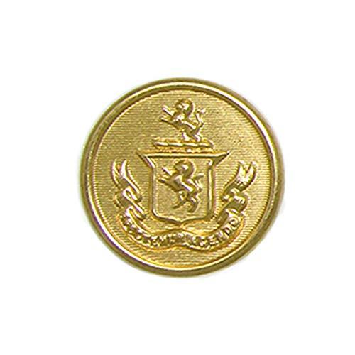 (ButtonMode Lion Crest Design Blazer Buttons 12pc Set Includes 4 Jacket Front Buttons x 19mm (3/4 Inch), 8 Jacket Sleeve Buttons x 15mm (9/16 Inch), Gold Color Metal, 12-Buttons)