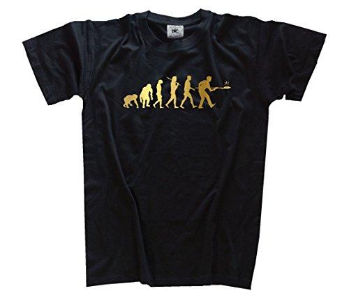 Shirtzshop Gold Edition Bäcker Bäckerei Backstube Backen Evolution T-Shirt, Schwarz, XXL, ss-evgol_baecker-t