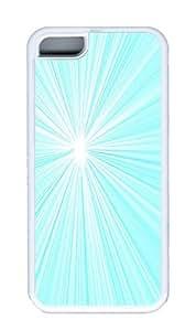 IMARTCASE iPhone 5C Case, Aqua Starburst Radiating Lines Case for Apple iPhone 5C TPU - White